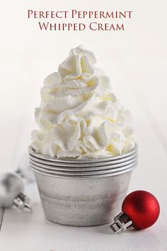 Peppermint Whipped Cream. Yes!