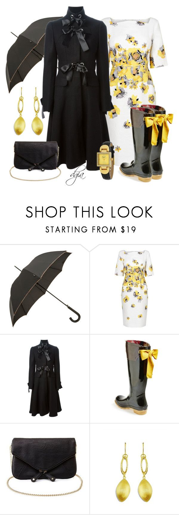 """""""Rain and bows"""" by dgia ❤ liked on Polyvore featuring Paul Smith, L.K.Bennett, Alexander McQueen, Joules, Charlotte Russe, Lord & Taylor and Kenneth Cole"""