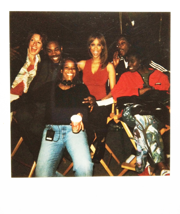 Lisa Mitchell @ Halloween Resurrection Movie Backstage with Tyra Banks, Basta Rhymes and others