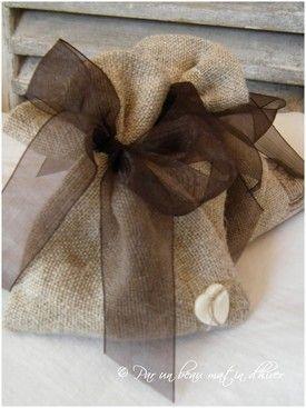 brown linen bags