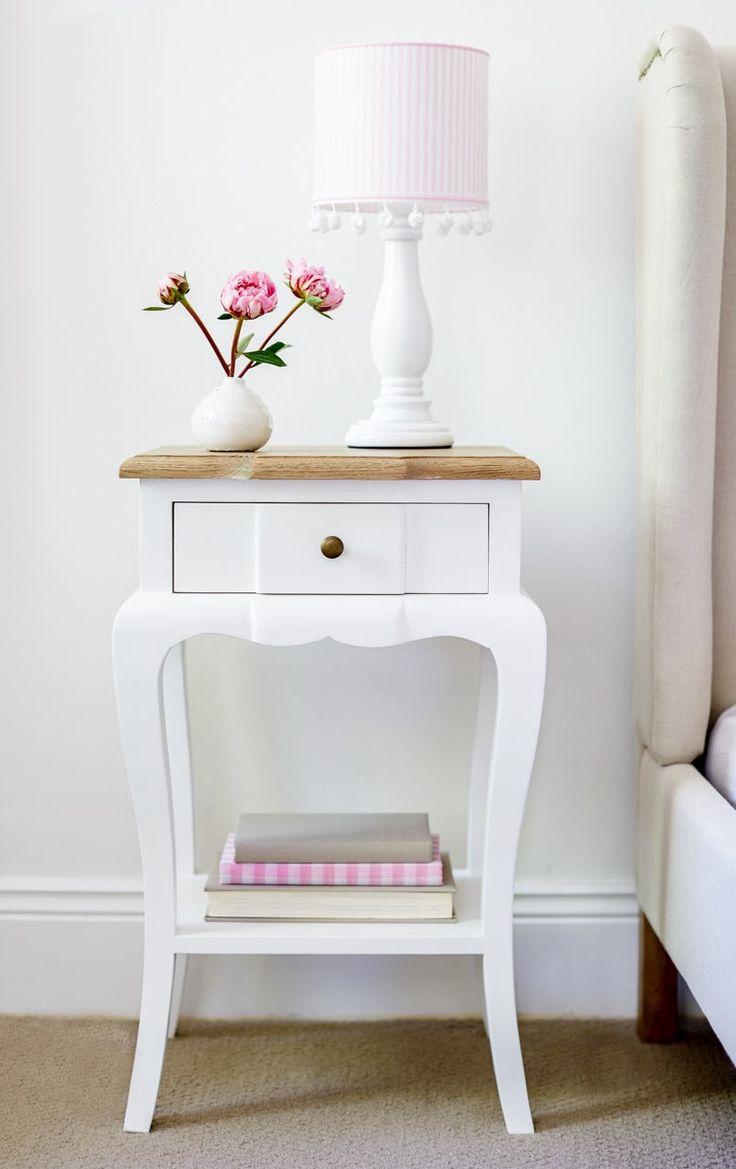 French style bedside table www.lavenderhillinteriors.com.au