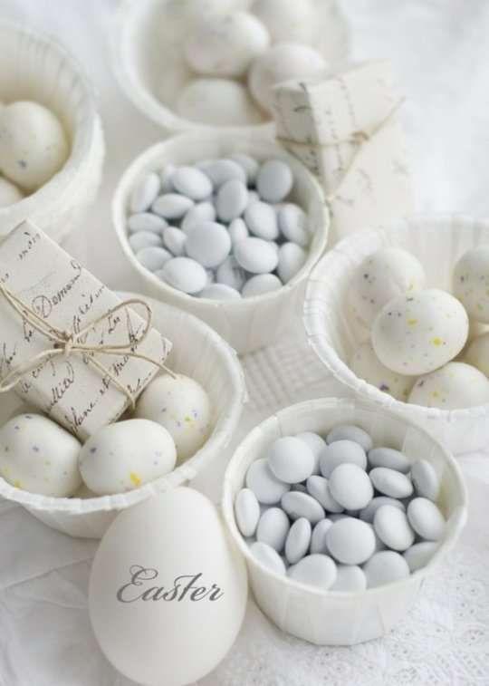 Decorazioni pasquali in bianco - Decorazioni per la casa per Pasqua Easter decorations in white - Easter decorations for the home