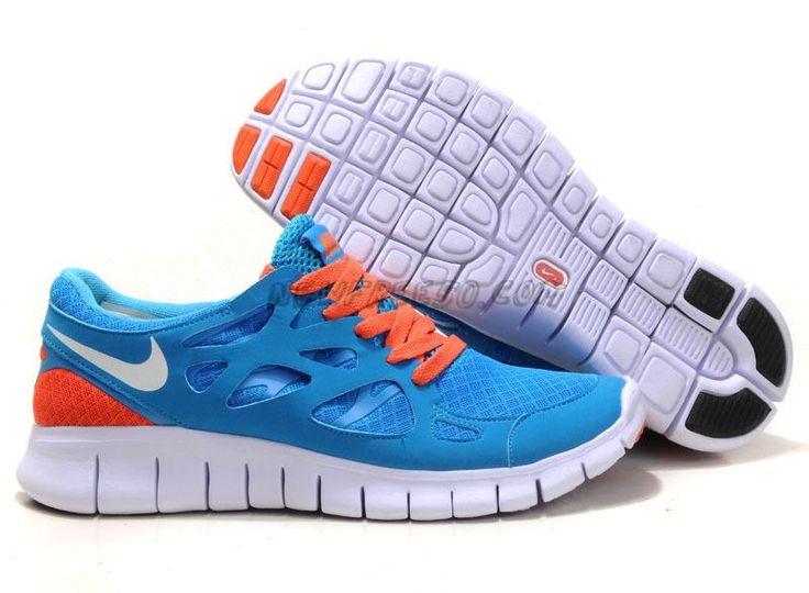 best sneakers d462a e83fa ... New Blue Orange Nike Free Run 2 Womens 443815-124 For Wholesale ...
