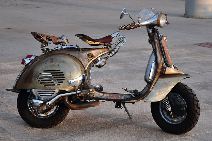 steam#punked #Vespa #scooter @Allison Sales */ what do you think sis??