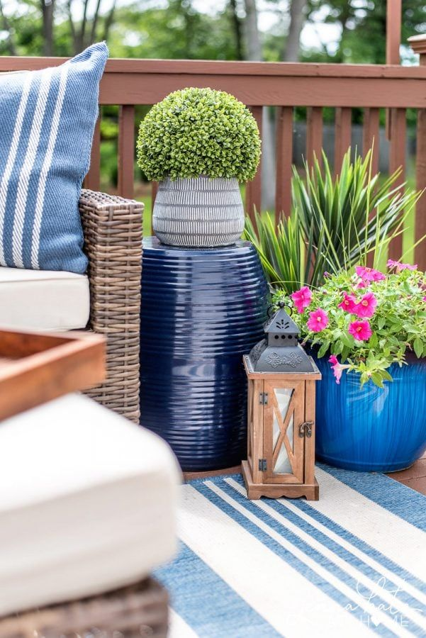 Small Deck Makeover Reveal Small Deck Decorating Ideas Outdoor Deck Decorating Outdoor Patio Decor