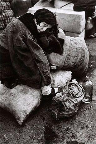 Young girl at refugee transit center, Barcelona, Spain. Jan. 15-1939