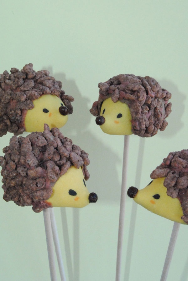 Hedgehog cake pops!!! They don't actually look like they'd taste too great… but they're adorable.