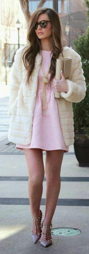 Pink Structured Skater Dress | STYLE | FASHION | M E G H A N ♠ M A C K E N Z I E