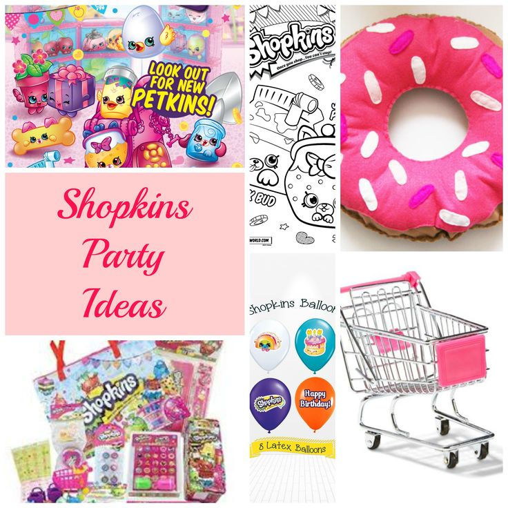 FREE Shopkins Party Printables - FREE SHOPKINS PARTY INVITATION, FREE SHOPKINS PARTY CUPCAKE TOPPERS, FREE SHOPKINS PARTY POPCORN BOXES and FREE SHOPKINS PIN THE SPRINKLES ON D'LISH DONUT GAME.