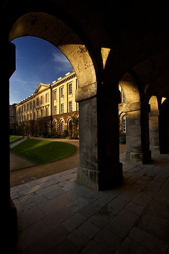 Worcester College Quad in Oxford, England