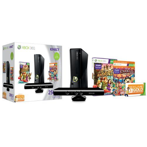 Review Cheap Xbox 360 250GB Holiday Value Bundle with Kinect