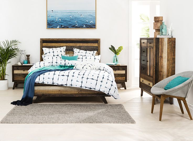 Recycled Pine In Multi Stain Finish Is Just One Of The Fresh New Bedroom  Looks