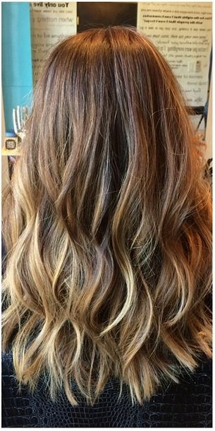 natural looking highlights for brunette hair