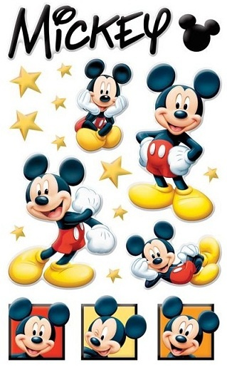 Mickey Mouse - Epoxy Gem Scrapbooking Stickers