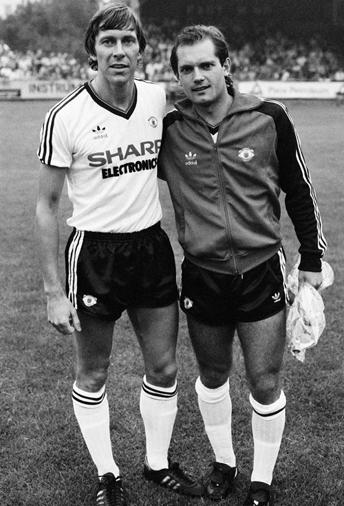 Arnold Muhren and Ray Wilkins