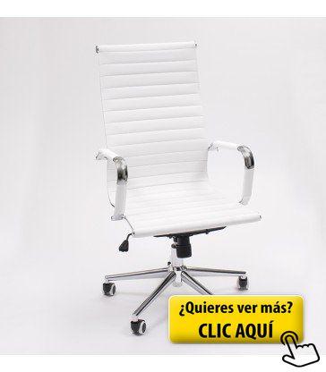 silln manager de despacho giratorio de acero cromado y tapizado pu silln oficina o escritorio
