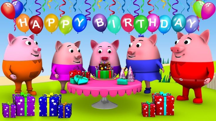 Baby Pigs Birthday Song - Happy Birthday Song for Children | Baby Songs ...
