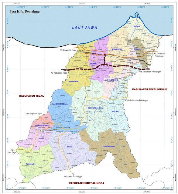 Peta Kabupaten Pemalang Lengkap: Gambar dan Keterangannya ...