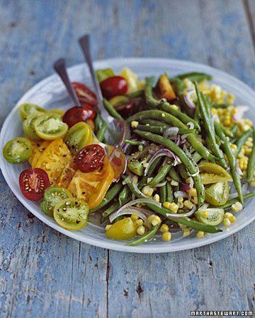 Green Bean, Corn, and Tomato Salad
