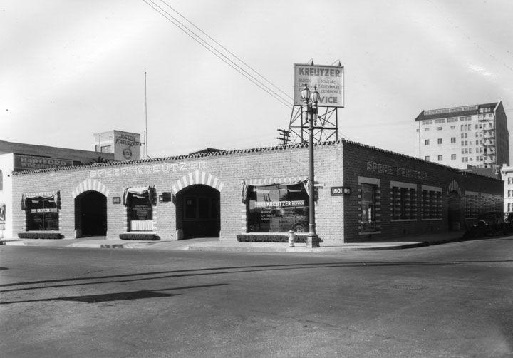 Joseph Kreutzer Speedy Automobile Service, L.A. Circa 1930