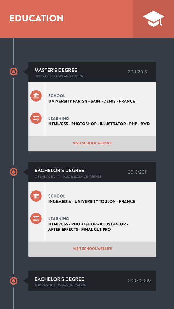8 best 2014毎日任務☆UI resume images on Pinterest App ui - mobile resume
