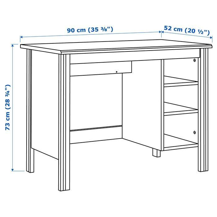 Brusali Desk White 90x52 Cm Ikea In 2020 Ikea Brusali Brusali Diy Desk Plans