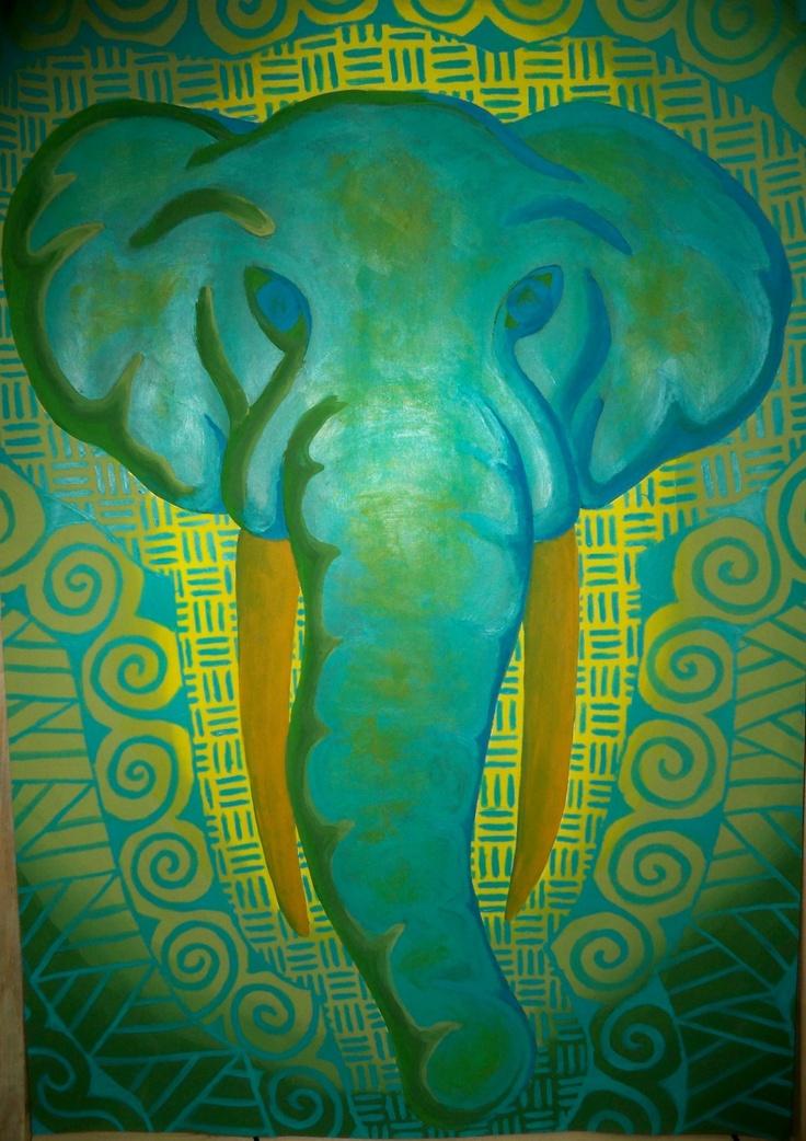 Elephant Acrylic Paint Art Pinterest Acrylics