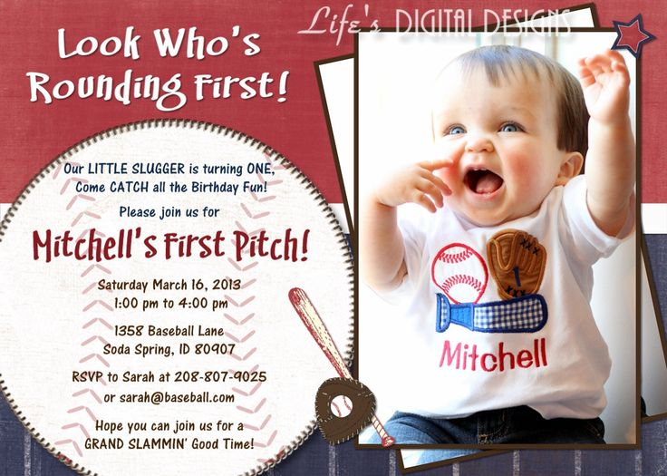 122 best baseball party images on pinterest | baseball party, Birthday invitations