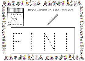Esta mañana, en el proyecto del nombre hemos repasado nuestro snombres con lápiz y luego con rotulador. Como la seño Fini y la seño Itziar...