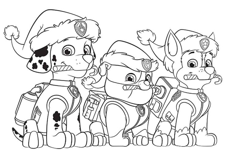 Free Printable Paw Patrol Christmas Coloring Pages Copy