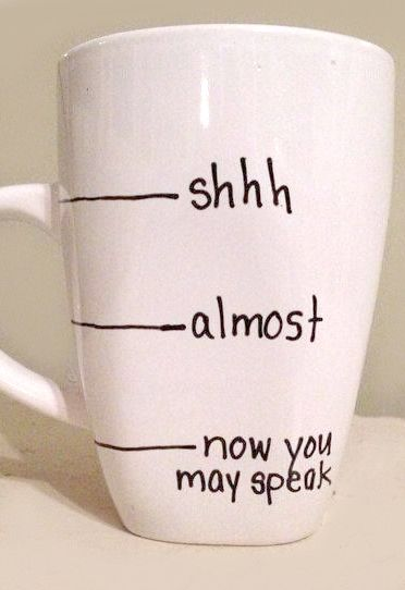 Now you may speak! A cheeky little mug this one.