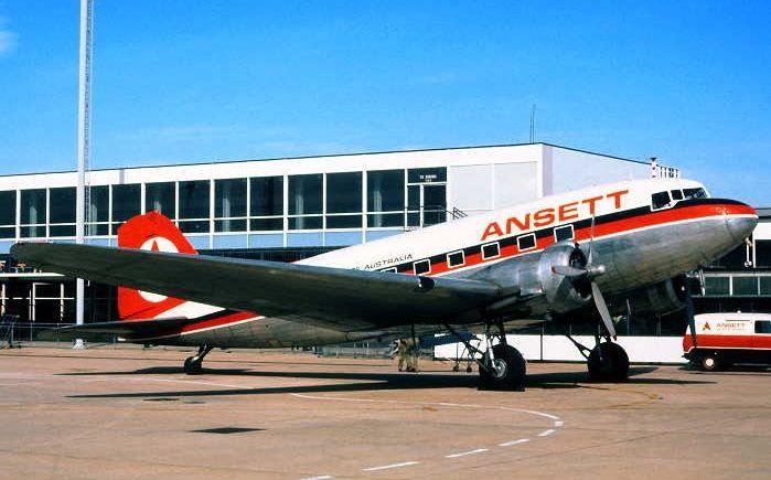 ANSETT Douglas DC-3-232A  (VH-ABR)