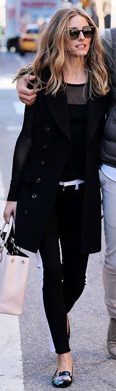 Olivia Palermo - Coat – Rachel Zoe Purse – Christian Dior Jeans – Hudson Jeans