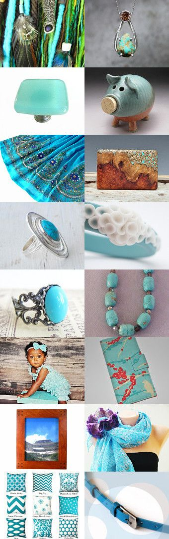 Turquoise and aqua by Maggie Davis on Etsy--Pinned with TreasuryPin.com