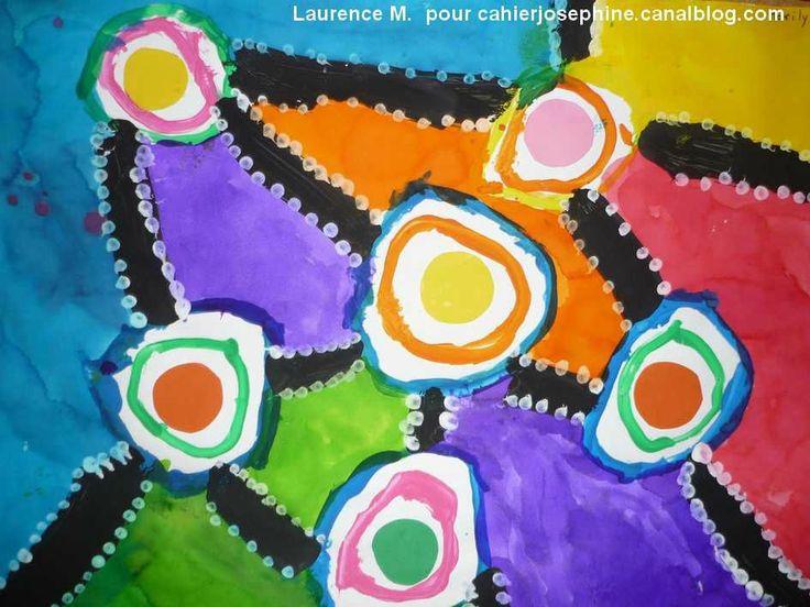 Je suis très fière de voir que la bannière de mon blog (issue d'une peinture collective de mes élèves sur le thème des aborigènes...