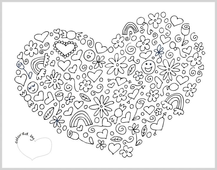 Difficult Mandala Coloring Pages | notesfromtheorchard.com{Valentines printable}