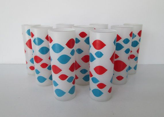 Dairy Queen Frosted Glasses - Set of 9
