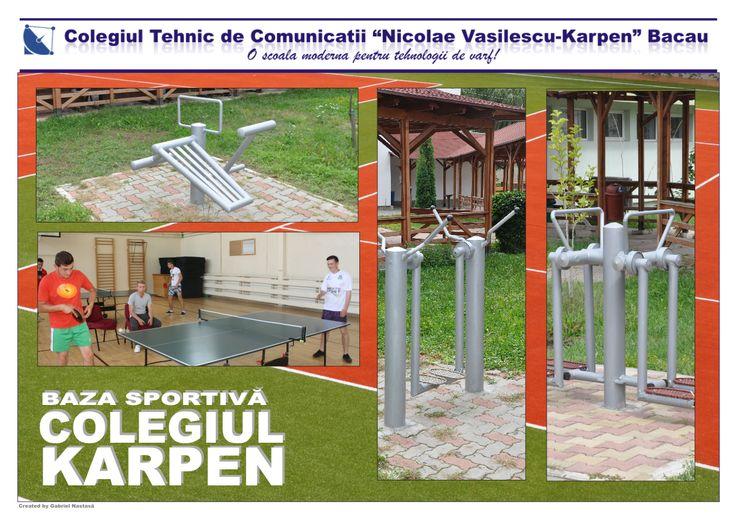 Baza sportivă a Colegiului Tehnic de Comunicații Nicolae Vasilescu-Karpen Bacău