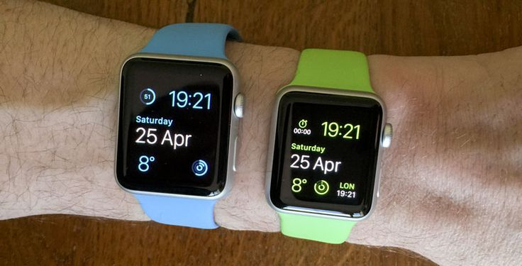 Apple Watch Compare Sizes 42mm vs 38mm Home