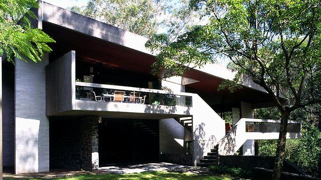 Penelope and Harry Seidler's home in Killara, Sydney.