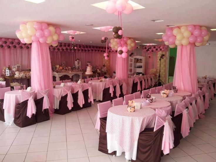 Little girls birthday decorations style pinterest for Balloon decoration for first birthday