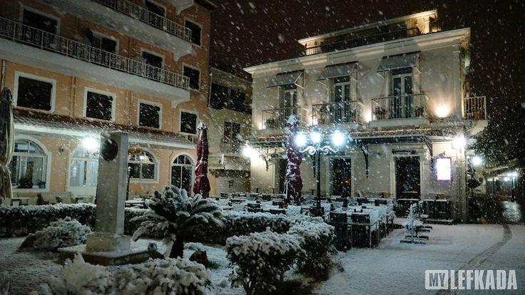 10/01/2017. Το ''Μποσκέτο'' χιονισμένο.Ο χιονιάς αυτός θα μείνει στην ιστορία! Δεκαετίες είχε να το στρώσει στην πόλη της Λευκάδας και ειδικότερα να ρίξει τόσο χιόνι!