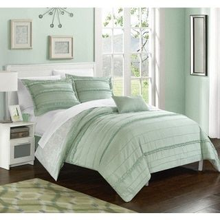 Shop for Chic Home Atticus Green Duvet Cover 4 Piece Set. Free Shipping on orders over $45 at Overstock.com - Your Online Fashion Bedding Outlet Store! Get 5% in rewards with Club O!