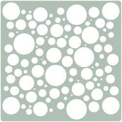 Stencil plantilla para paredes geometrica 023 stencil - Plantillas para decorar paredes ...