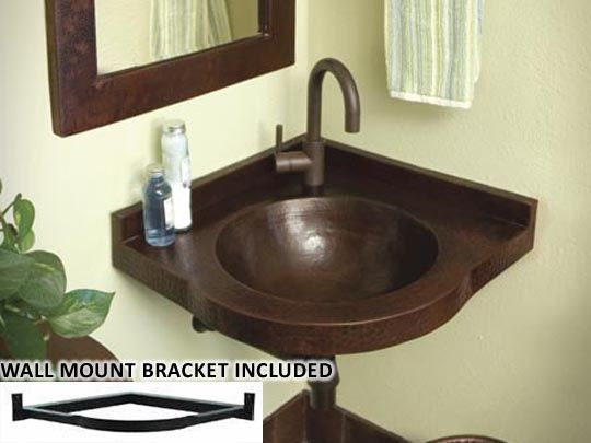 Copper Corner Sink : Copper Sinks