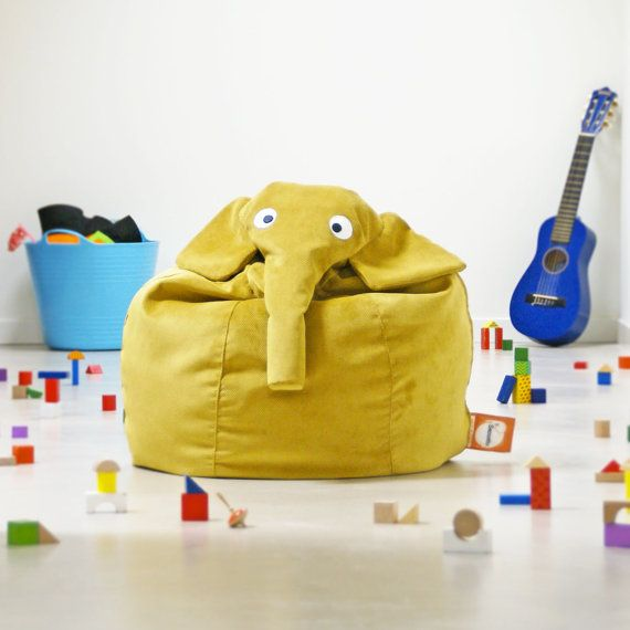 Yellow Elephant bean bag by ilSaccotto on Etsy