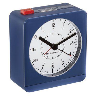 Marathon Watch Company Desk Alarm Clock Color: Blue