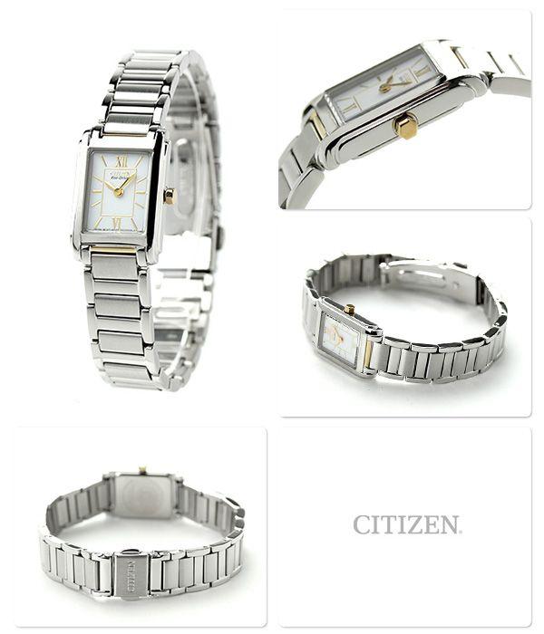 シチズンソーラーペアウォッチレディース腕時計FRA36-2432CITIZENホワイト