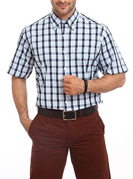 This simple short sleeve checkered shirt will allow you to carry yourself in the most sensible way. Inspired by premium classic checks it is a voguish shirt for all the men. The regular-fit and collar neck make it an apt choice for all your corporate tasks. The modern aristocratic man is sure to add this shirt to his wardrobe. Color Plus gives you an opportunity to dress yourself in classic attire. The contrast color and white buttons stitched perfectly on the front line makes the shirt look…