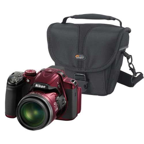 New! Nikon COOLPIX P520 18.1MP Digital Camera with Lowepro Rezo Camera Case - Red  #BBYSocialStudies